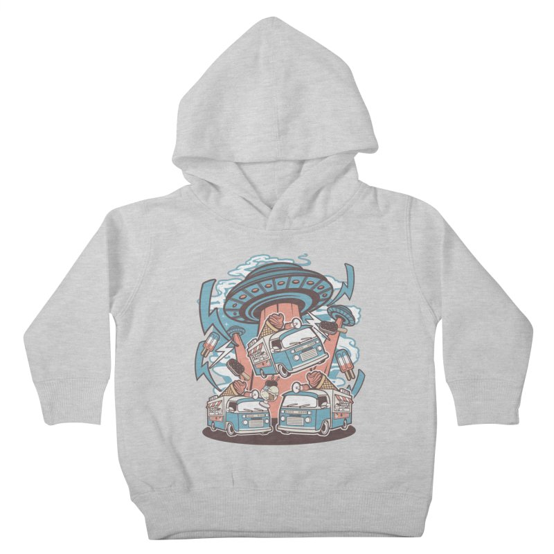 UFO Ice Cream Abduction Kids Toddler Pullover Hoody by WackyToonz
