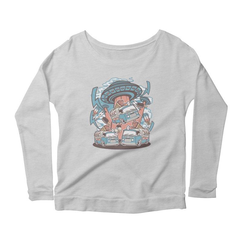UFO Ice Cream Abduction Women's Longsleeve T-Shirt by WackyToonz