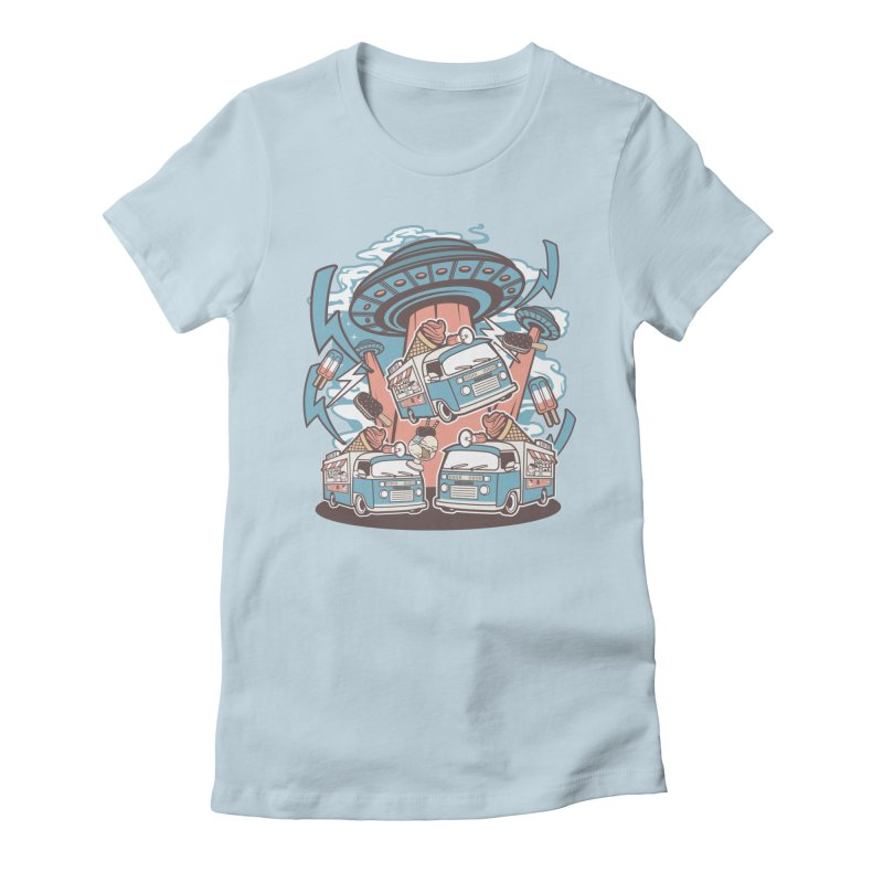 UFO Ice Cream Abduction Women's T-Shirt by WackyToonz
