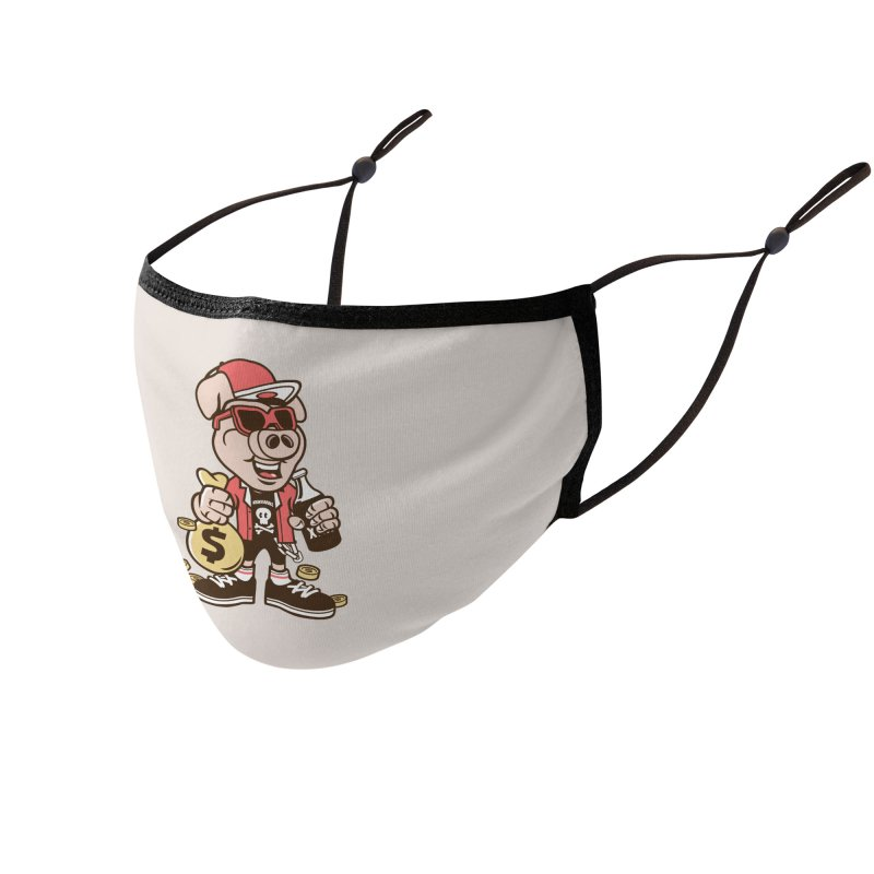 Piggy Bank Robber Accessories Face Mask by WackyToonz