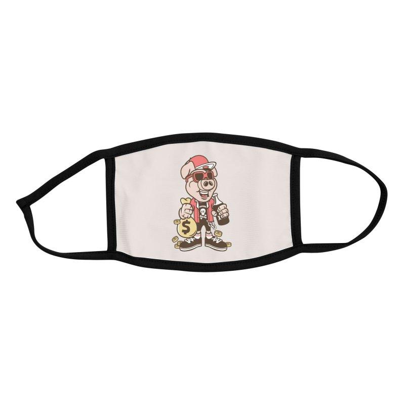 Piggy Bank Robber Accessories Face Mask by WackyToonz