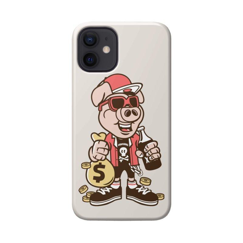 Piggy Bank Robber Accessories Phone Case by WackyToonz