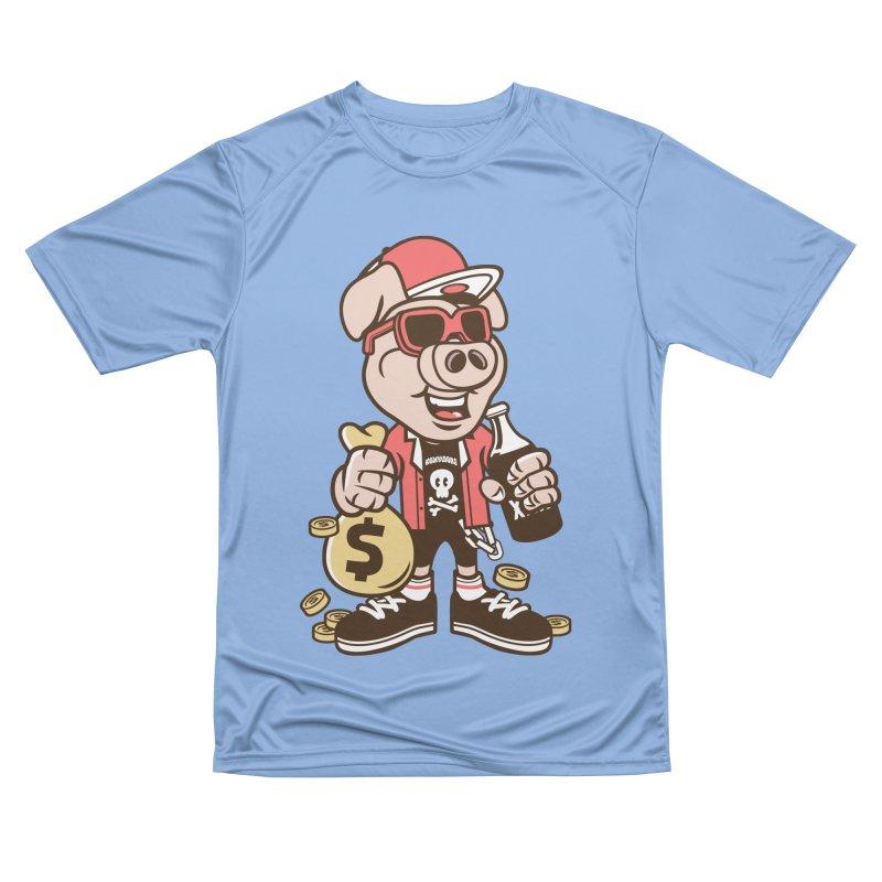 Piggy Bank Robber Men's T-Shirt by WackyToonz