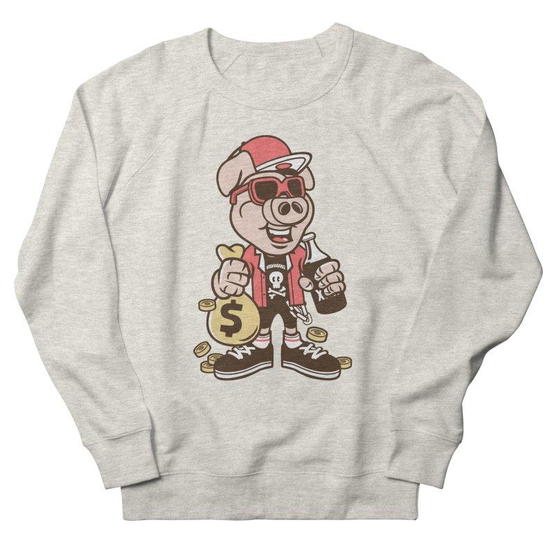 Piggy Bank Robber Women's Sweatshirt by WackyToonz