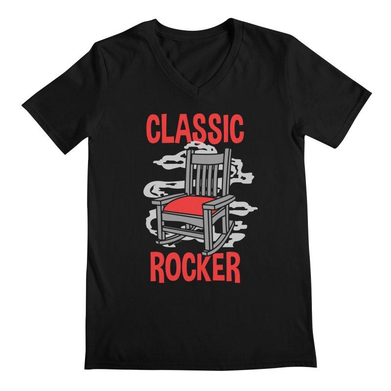 Classic Rocker Men's V-Neck by WackyToonz