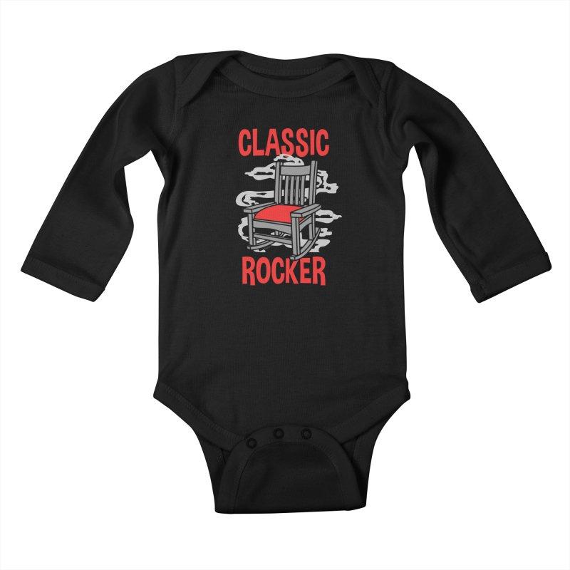 Classic Rocker Kids Baby Longsleeve Bodysuit by WackyToonz