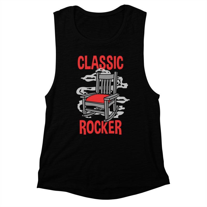Classic Rocker Women's Tank by WackyToonz