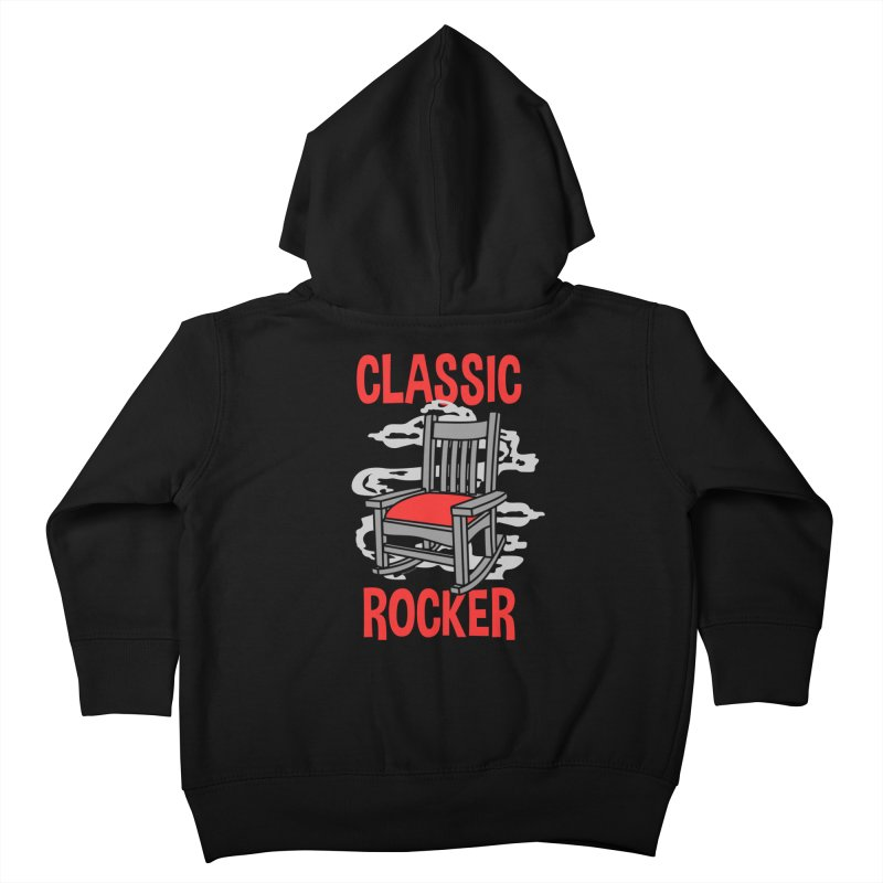 Classic Rocker Kids Toddler Zip-Up Hoody by WackyToonz
