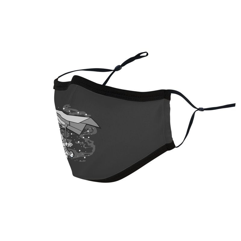 Hang Gliding Astronaut Accessories Face Mask by WackyToonz