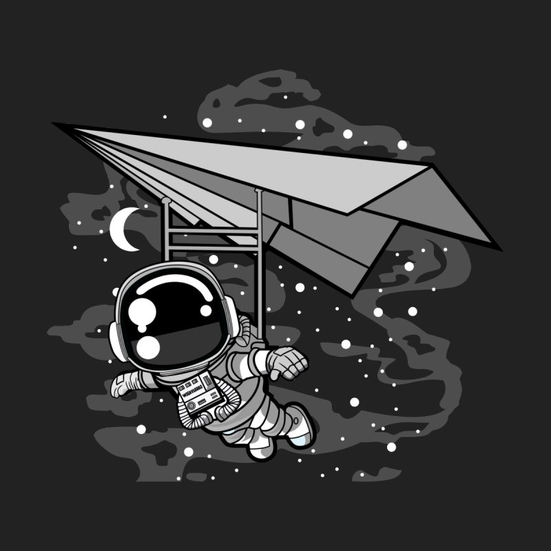 Hang Gliding Astronaut Men's T-Shirt by WackyToonz
