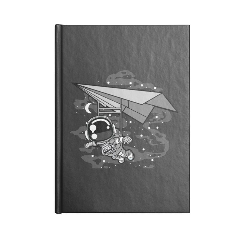 Hang Gliding Astronaut Accessories Notebook by WackyToonz