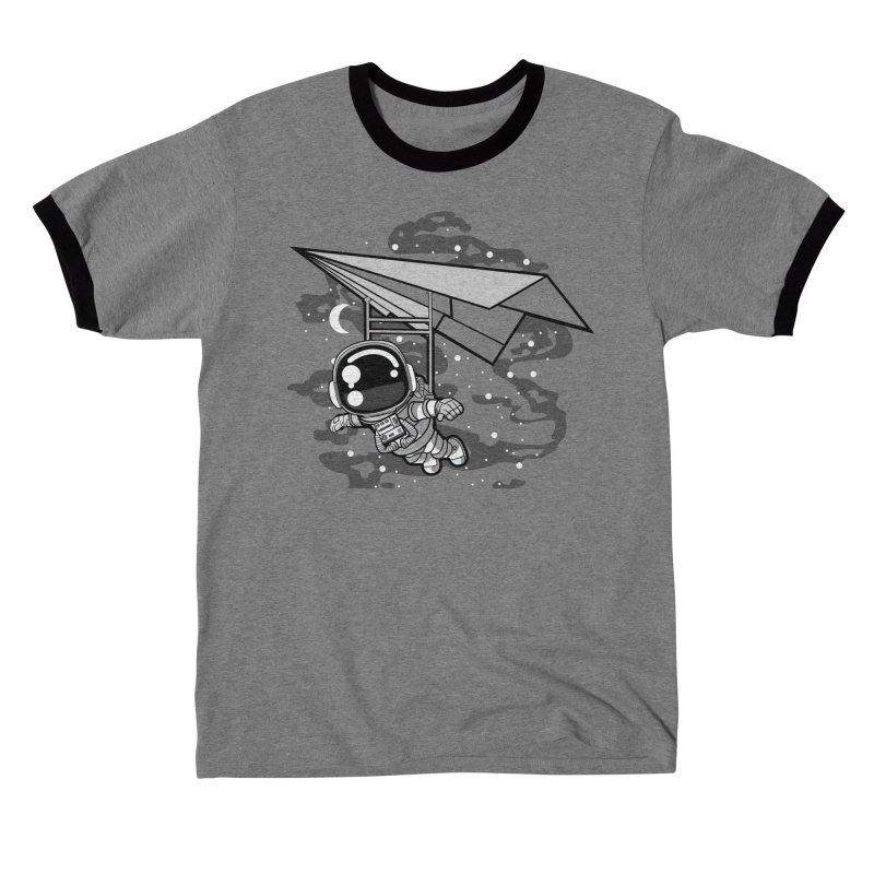Hang Gliding Astronaut Men's T-Shirt by WackyToonz