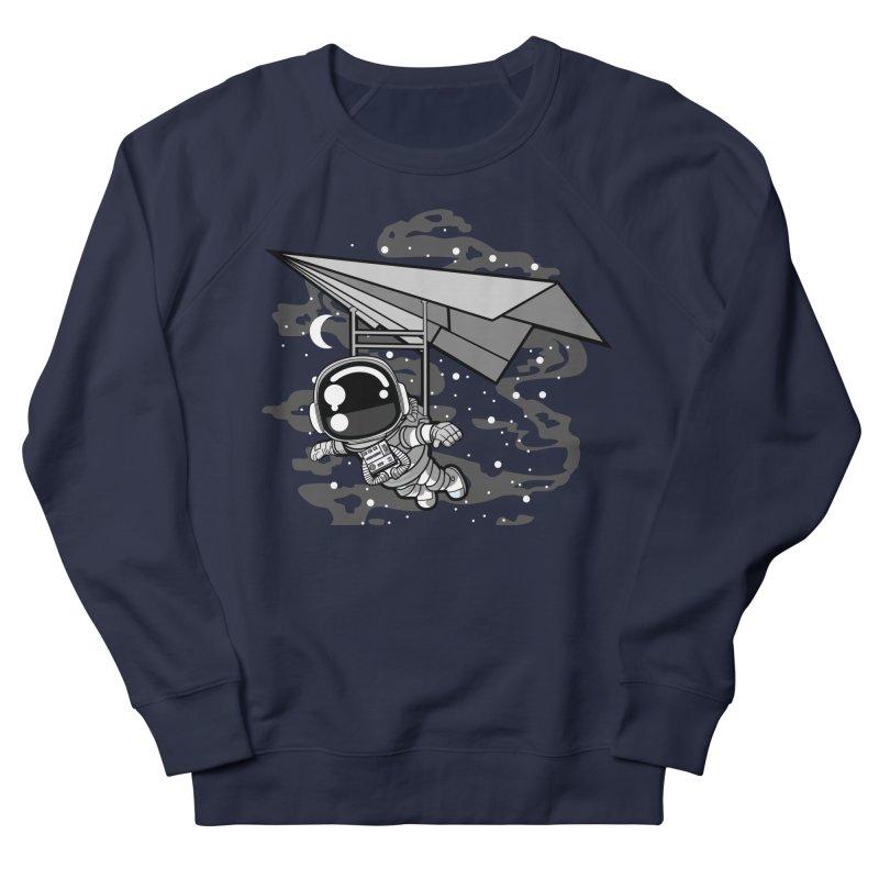 Hang Gliding Astronaut Women's Sweatshirt by WackyToonz