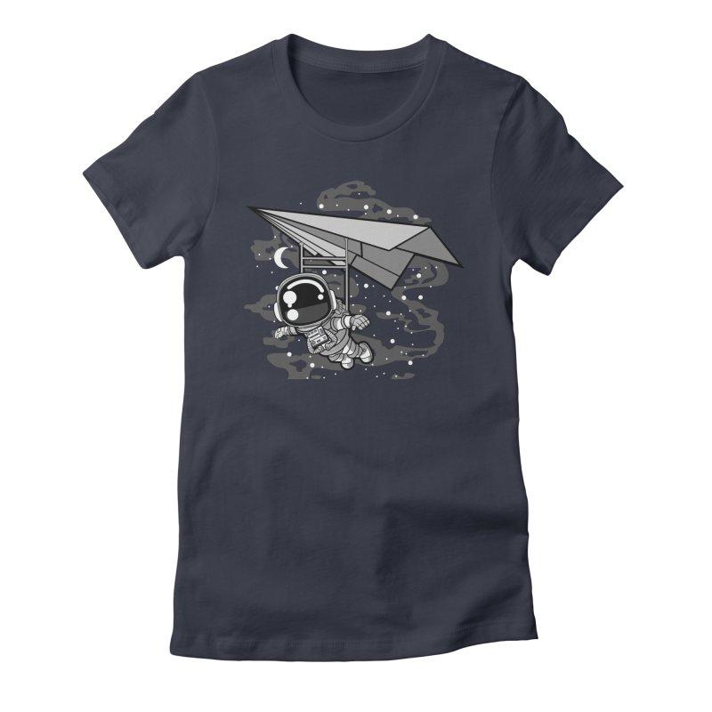 Hang Gliding Astronaut Women's T-Shirt by WackyToonz