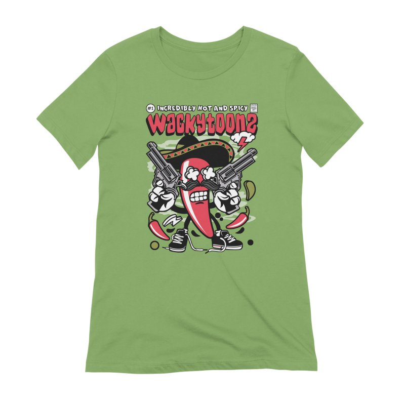 Incredibly Hot And Spicy Women's Extra Soft T-Shirt by WackyToonz