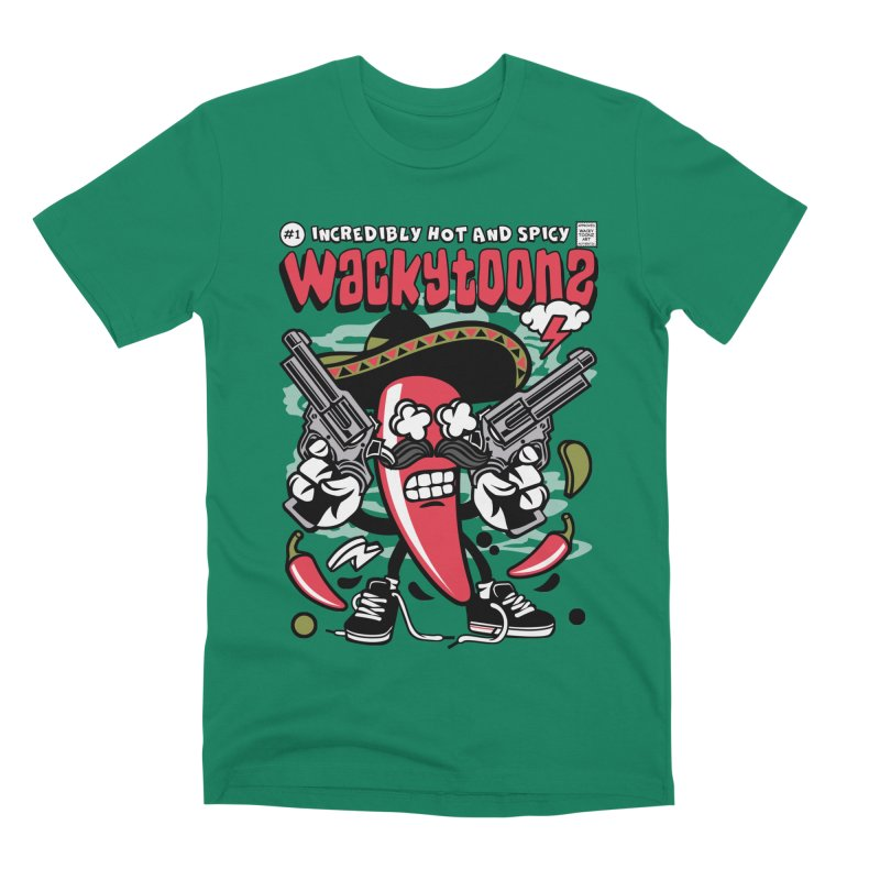 Incredibly Hot And Spicy Men's Premium T-Shirt by WackyToonz