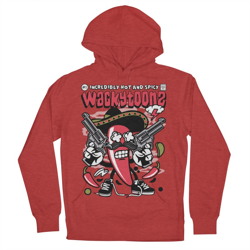 Incredibly Hot And Spicy Men's French Terry Pullover Hoody by WackyToonz