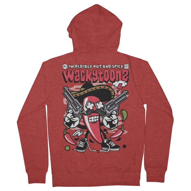 Incredibly Hot And Spicy Women's French Terry Zip-Up Hoody by WackyToonz