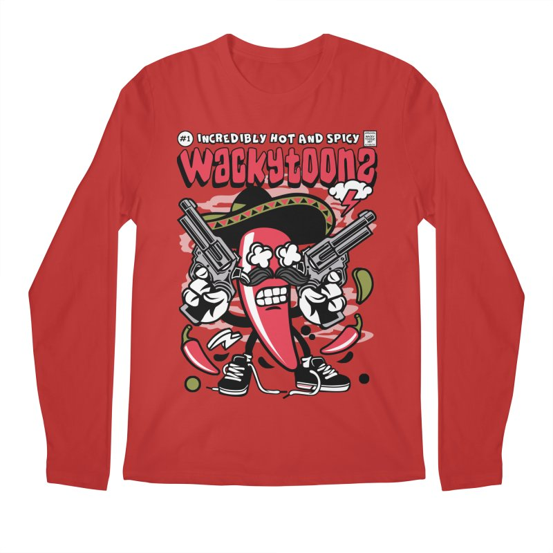 Incredibly Hot And Spicy Men's Regular Longsleeve T-Shirt by WackyToonz