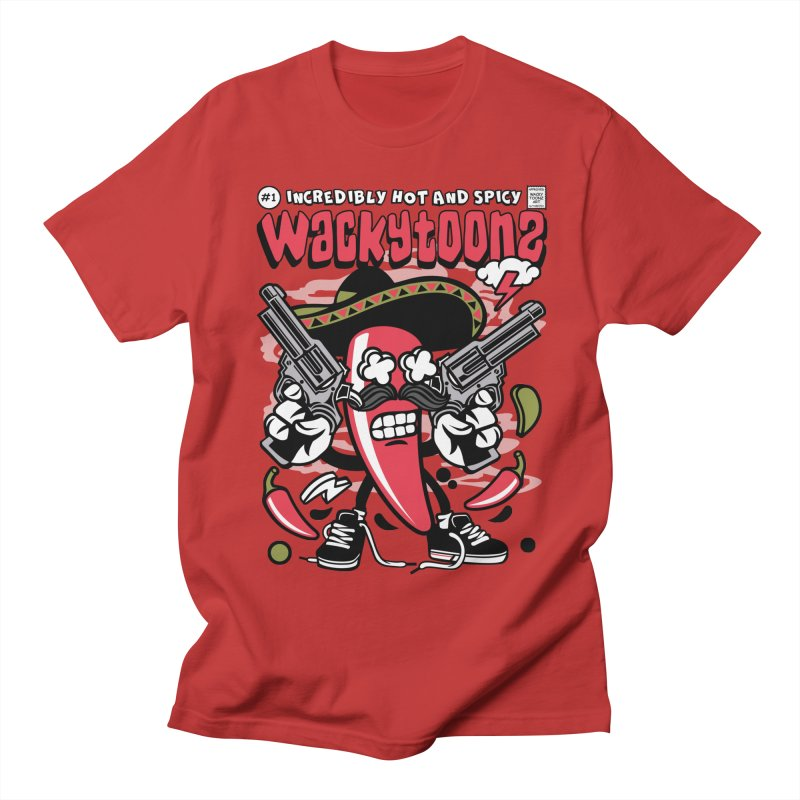Incredibly Hot And Spicy Men's Regular T-Shirt by WackyToonz