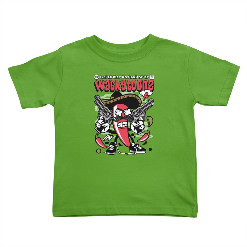 Incredibly Hot And Spicy Kids Toddler T-Shirt by WackyToonz