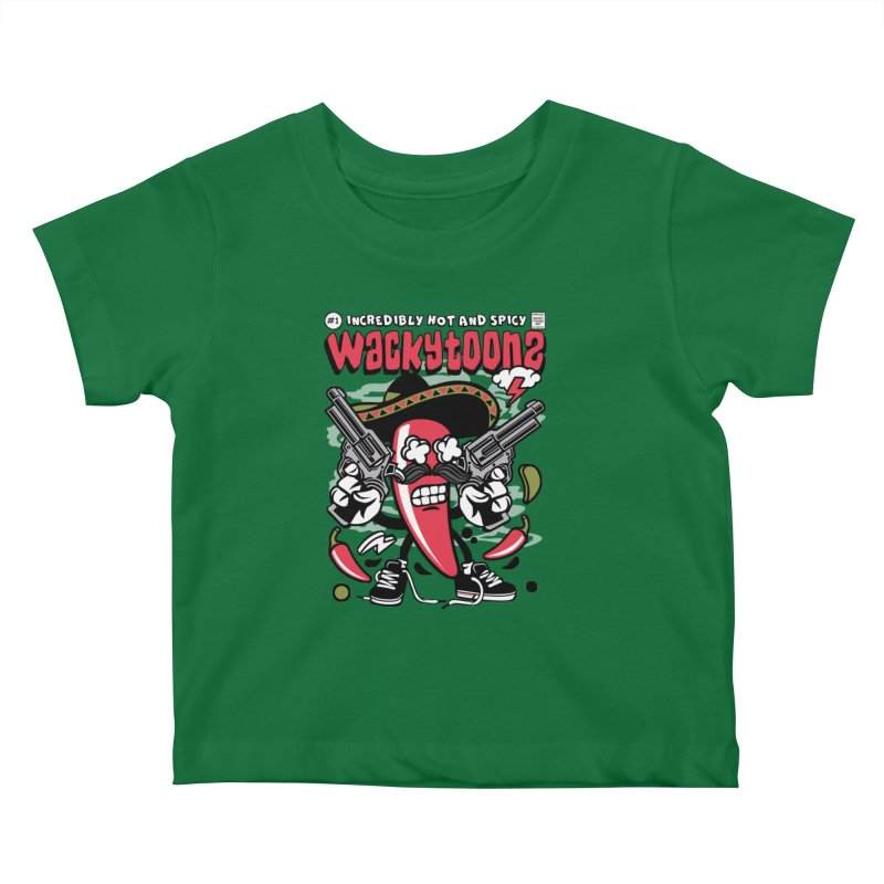 Incredibly Hot And Spicy Kids Baby T-Shirt by WackyToonz