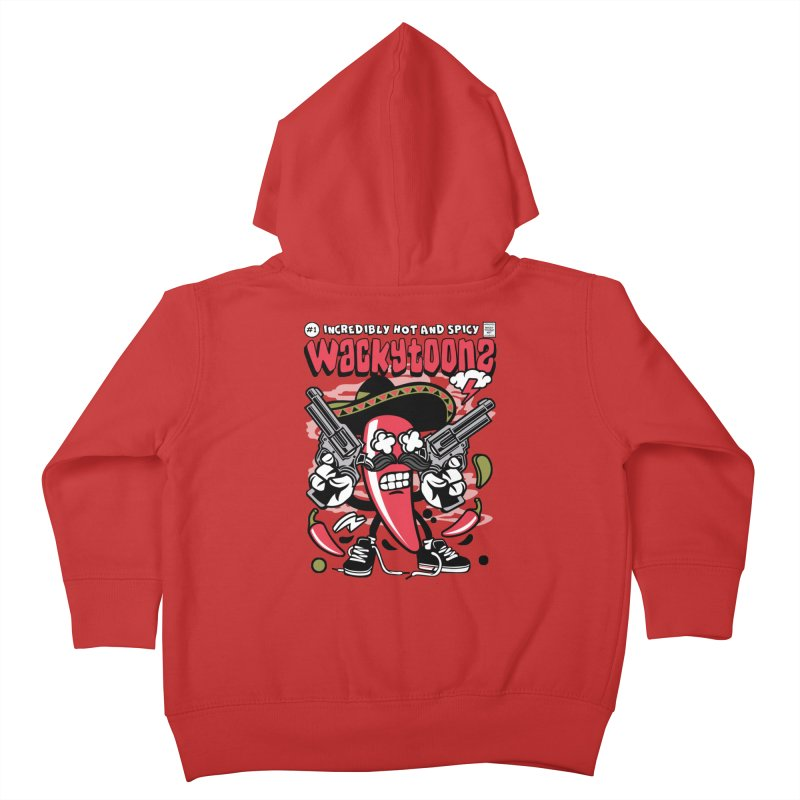 Incredibly Hot And Spicy Kids Toddler Zip-Up Hoody by WackyToonz