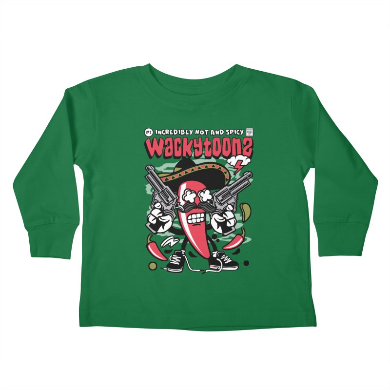 Incredibly Hot And Spicy Kids Toddler Longsleeve T-Shirt by WackyToonz