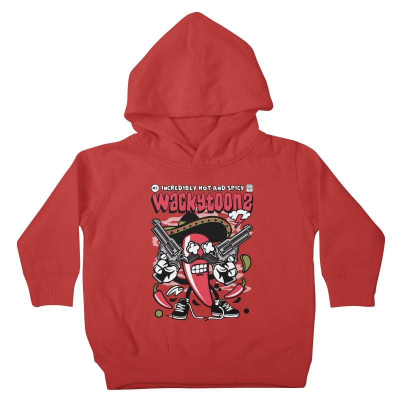 Incredibly Hot And Spicy Kids Toddler Pullover Hoody by WackyToonz