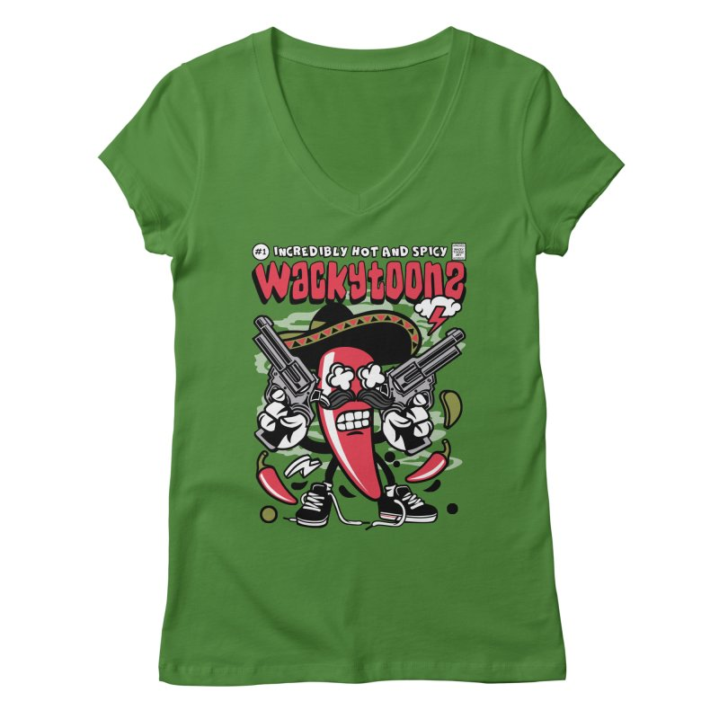 Incredibly Hot And Spicy Women's Regular V-Neck by WackyToonz