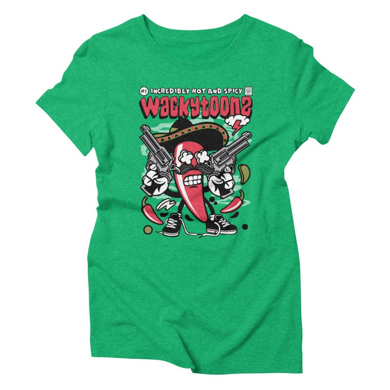 Incredibly Hot And Spicy Women's Triblend T-Shirt by WackyToonz