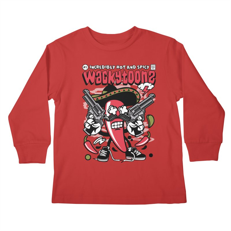 Incredibly Hot And Spicy Kids Longsleeve T-Shirt by WackyToonz