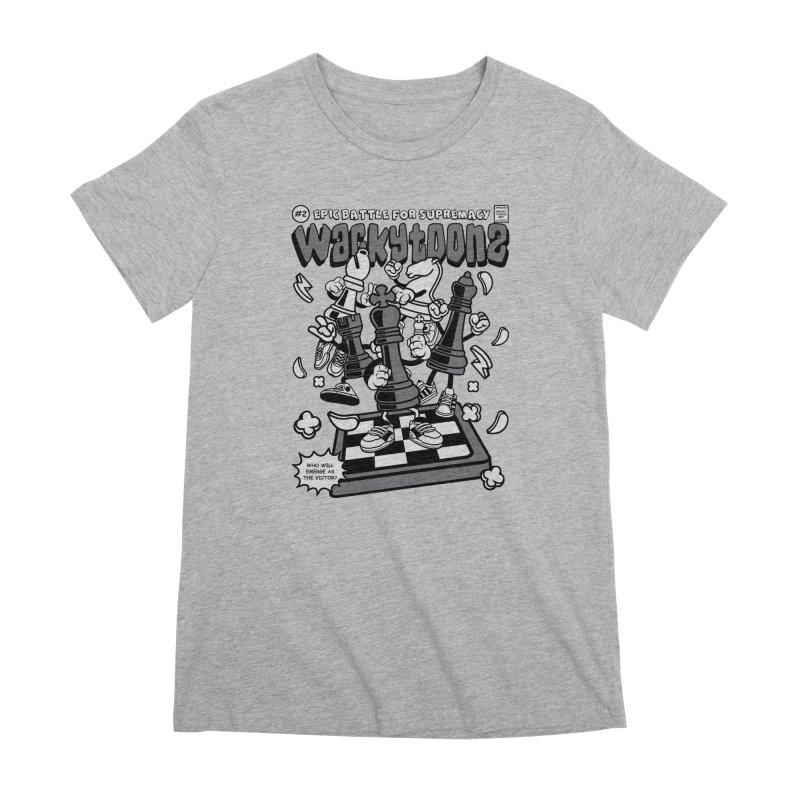 Epic Battle For Supremacy Women's Premium T-Shirt by WackyToonz