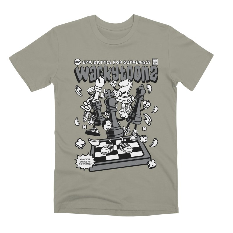 Epic Battle For Supremacy Men's Premium T-Shirt by WackyToonz