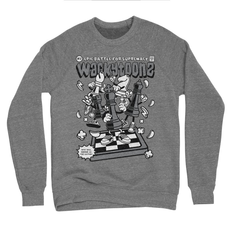 Epic Battle For Supremacy Men's Sponge Fleece Sweatshirt by WackyToonz