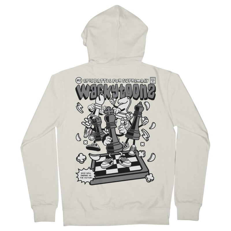 Epic Battle For Supremacy Women's French Terry Zip-Up Hoody by WackyToonz