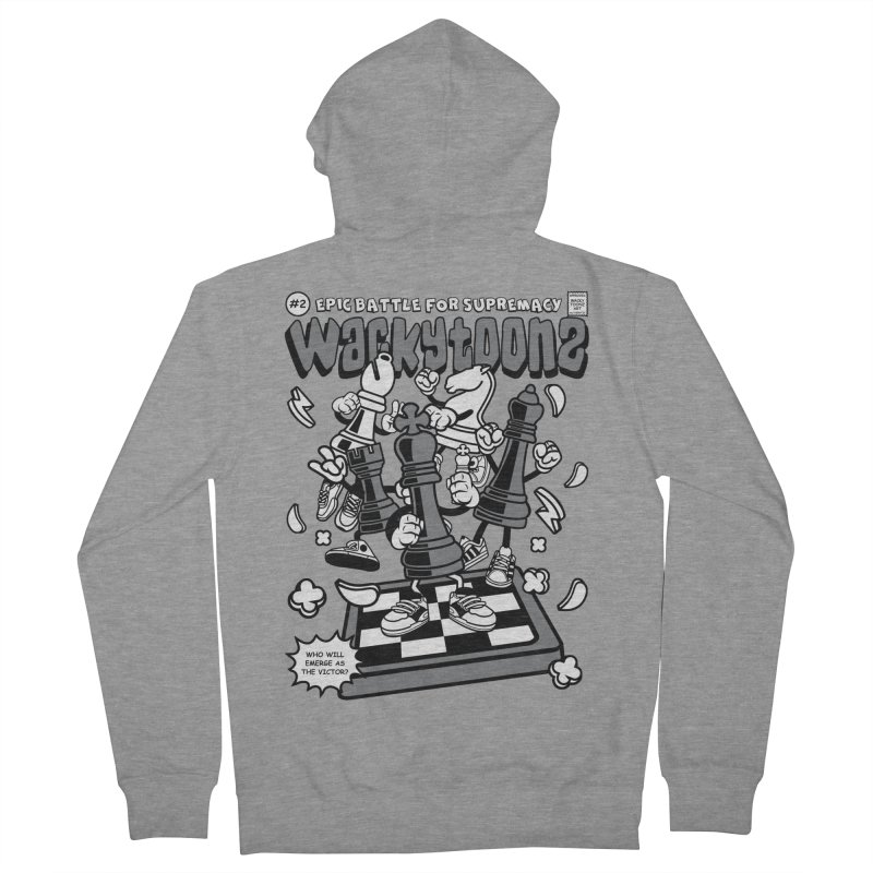 Epic Battle For Supremacy Men's French Terry Zip-Up Hoody by WackyToonz