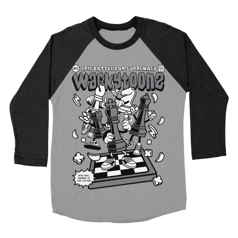 Epic Battle For Supremacy Men's Baseball Triblend Longsleeve T-Shirt by WackyToonz