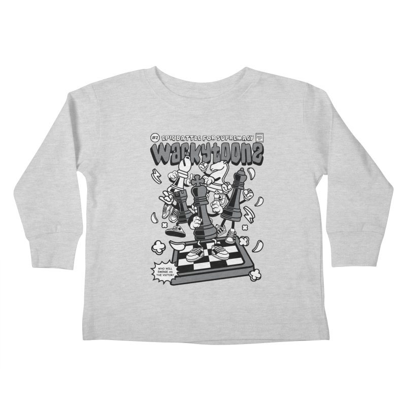 Epic Battle For Supremacy Kids Toddler Longsleeve T-Shirt by WackyToonz
