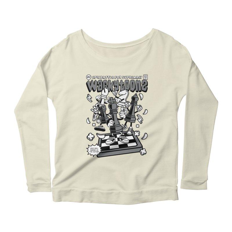 Epic Battle For Supremacy Women's Scoop Neck Longsleeve T-Shirt by WackyToonz