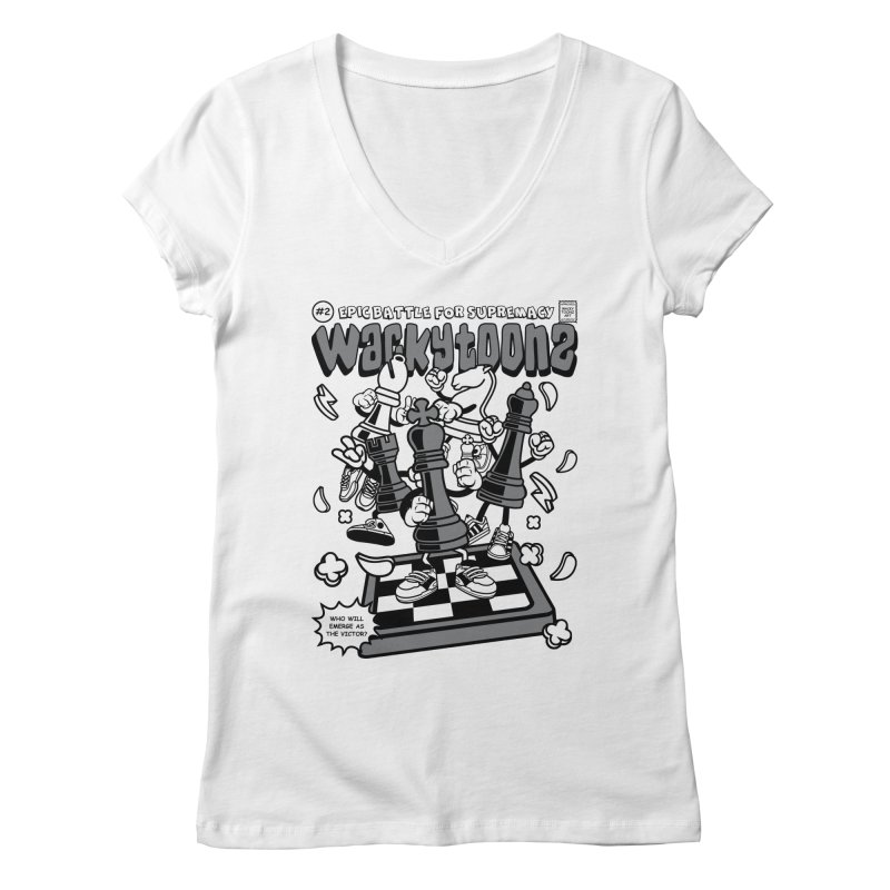Epic Battle For Supremacy Women's Regular V-Neck by WackyToonz