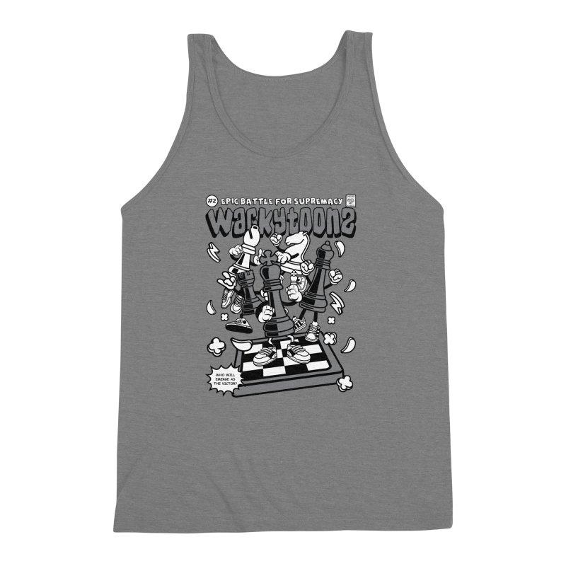 Epic Battle For Supremacy Men's Triblend Tank by WackyToonz