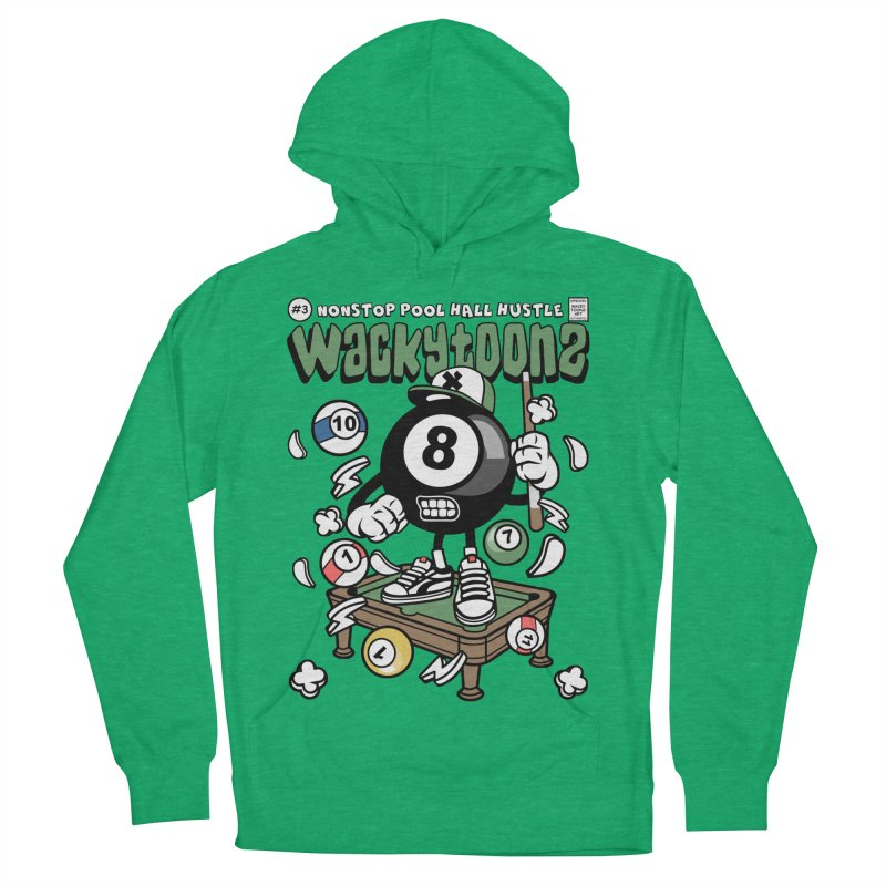 Nonstop Pool Hall Hustle Women's French Terry Pullover Hoody by WackyToonz