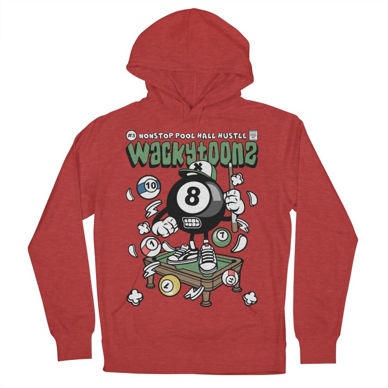 Nonstop Pool Hall Hustle Men's French Terry Pullover Hoody by WackyToonz