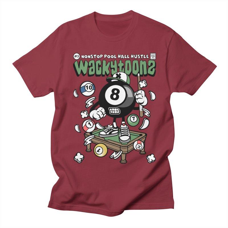 Nonstop Pool Hall Hustle Men's Regular T-Shirt by WackyToonz