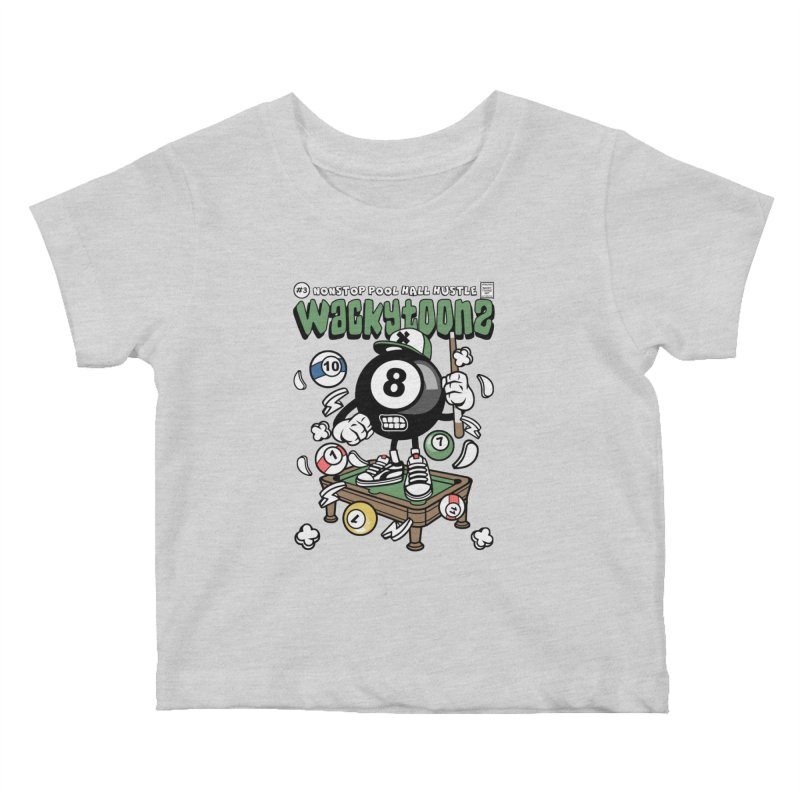 Nonstop Pool Hall Hustle Kids Baby T-Shirt by WackyToonz