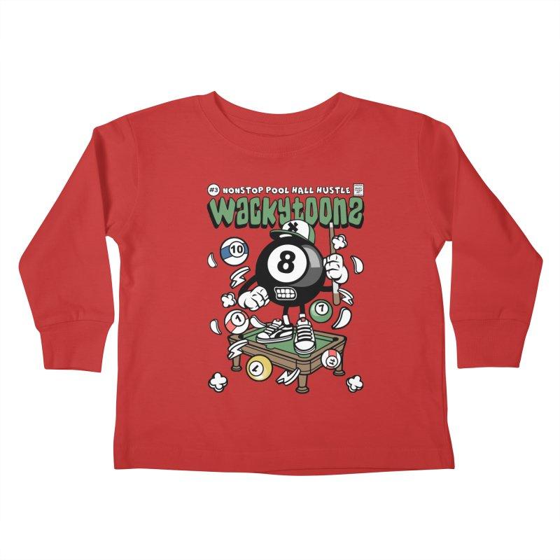 Nonstop Pool Hall Hustle Kids Toddler Longsleeve T-Shirt by WackyToonz