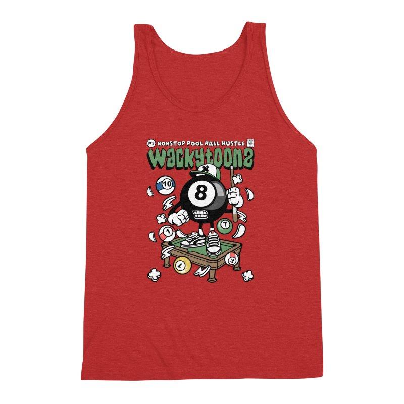 Nonstop Pool Hall Hustle Men's Triblend Tank by WackyToonz