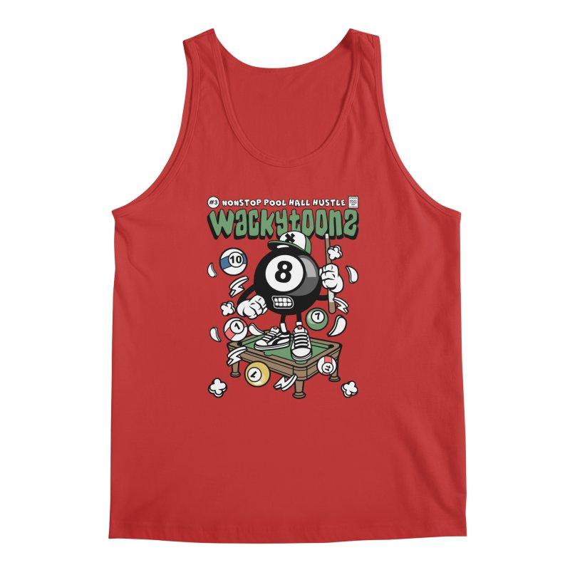 Nonstop Pool Hall Hustle Men's Regular Tank by WackyToonz