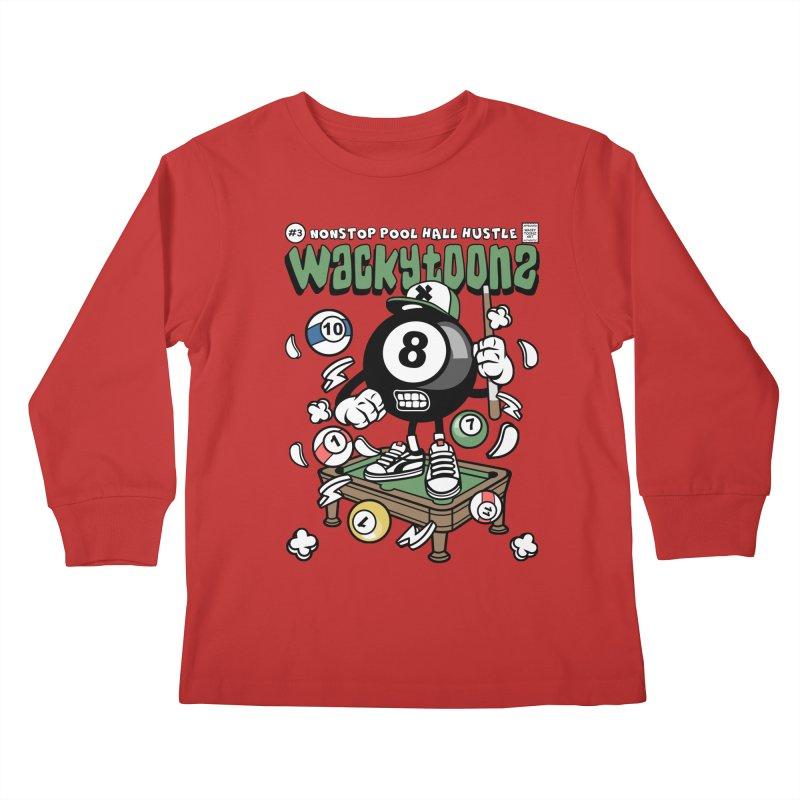 Nonstop Pool Hall Hustle Kids Longsleeve T-Shirt by WackyToonz